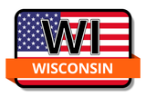 Wisconsin State Flags Stickers