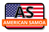 American Samoa State Flags Stickers