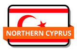 Northern Cyprus State Flags Stickers