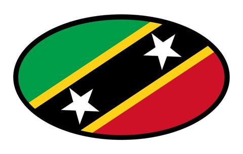 Saint Kitts and Nevis Flag Car Bumper Sticker Decal