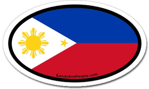 Philippines Flag Sticker Oval