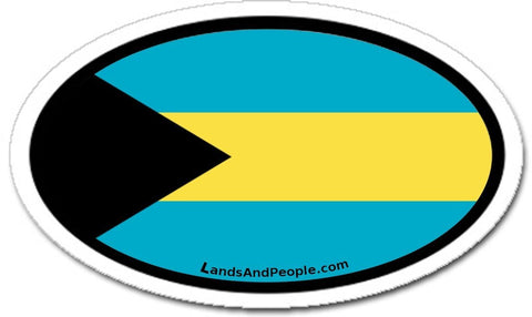 Bahamas Flag Car Sticker Decal