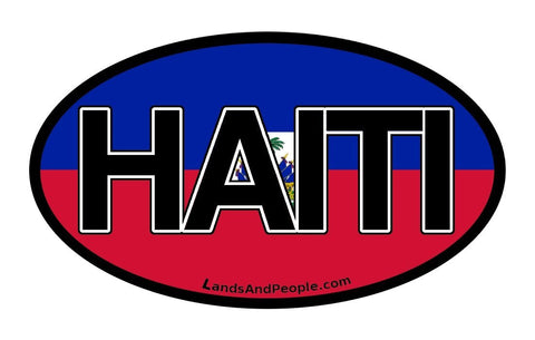 Haiti Flag Car Bumper Sticker Decal