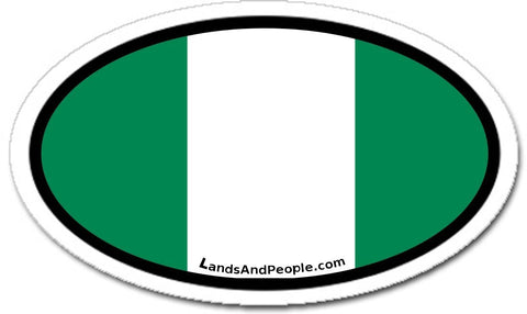 Nigeria Flag Sticker Oval