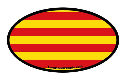 Catalonia Catalunya Flag Car Bumper Sticker Decal Oval
