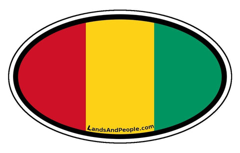 Guinea Flag Sticker Oval