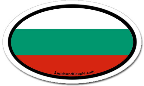 Bulgaria Flag Car Bumper Sticker Decal Oval