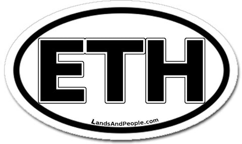 ETH Ethiopia Car Bumper Sticker Decal Oval