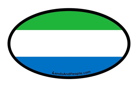Sierra Leone Flag Car Sticker Oval