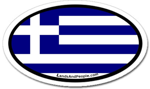 Greece Greek Flag Sticker Oval