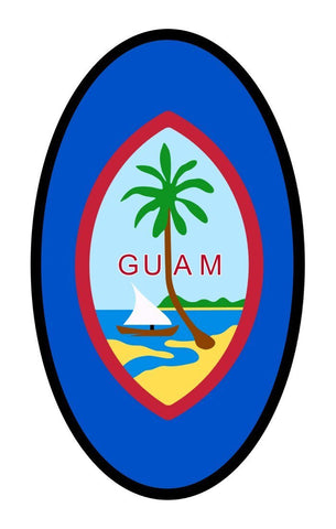 Guam Flag Car Bumper Sticker Decal