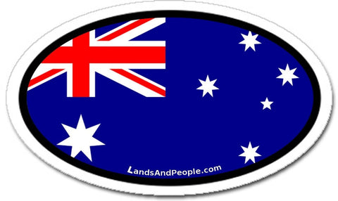 Australia Flag Car Bumper Sticker Decal