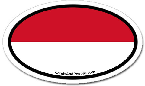 Indonesia Flag Sticker Oval