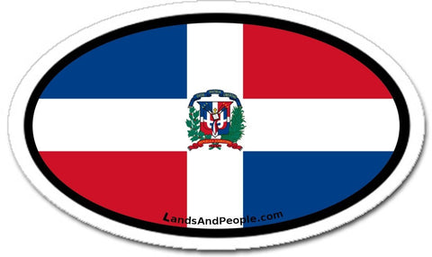 Dominican Republic Flag Car Bumper Sticker Decal