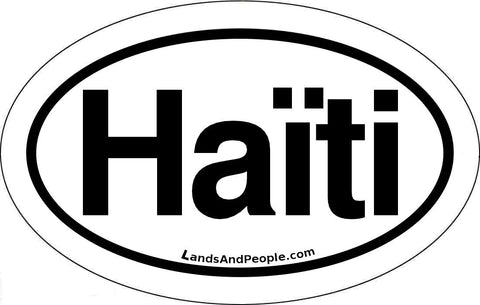 Haïti Haiti in French Car Bumper Sticker Decal