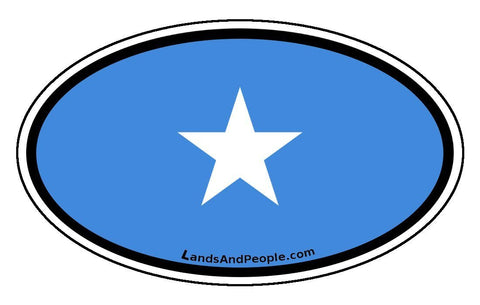 Somalia Flag Car Bumper Sticker Decal Oval