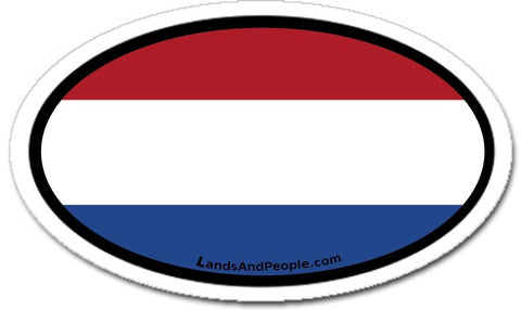 Netherlands Dutch Holland Flag Sticker Oval