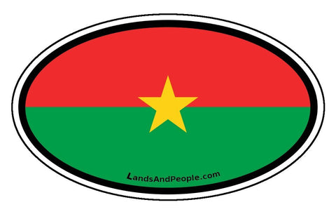 Burkina Faso Flag Sticker Oval