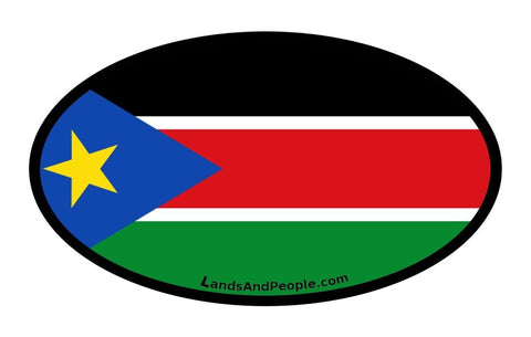 South Sudan Flag Car Sticker Oval
