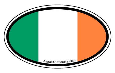 Irish Ireland Flag Car Bumper Sticker Decal Oval