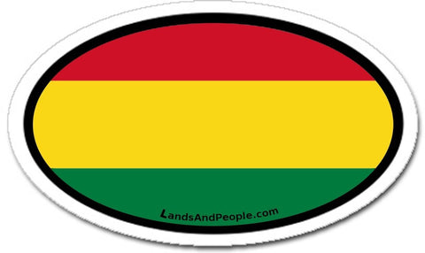 Bolivia Flag Car Bumper Sticker Decal