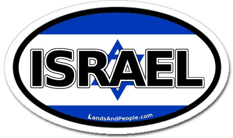 Israel Israeli Flag Car Sticker Decal Oval