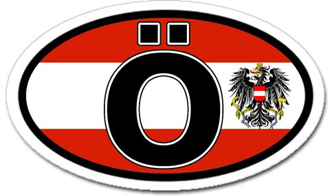 Ö Austria Flag Sticker Oval