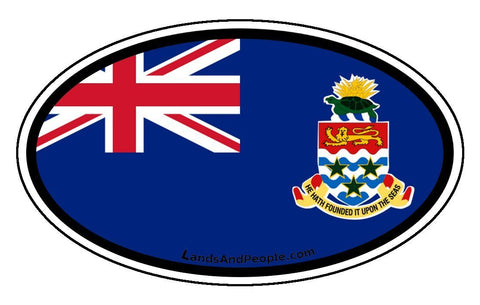 Cayman Islands Flag Car Bumper Sticker Decal