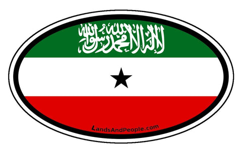 Somaliland Flag Car Bumper Sticker Decal