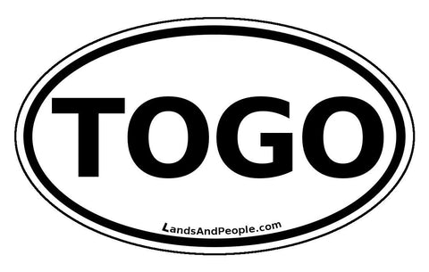 Togo Car Bumper Sticker Decal