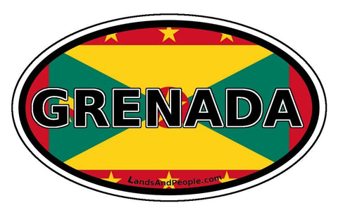 Grenada Flag Car Bumper Sticker Decal