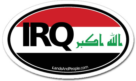IRQ Iraq Sticker Oval