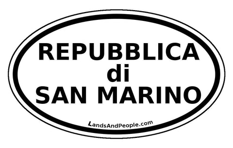 Repubblica di San Marino Flag Sticker Oval