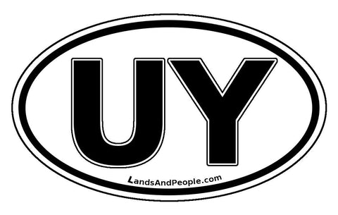UY Uruguay Car Bumper Sticker Decal