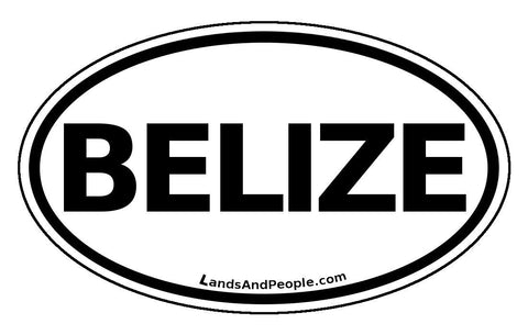 Belize Car Bumper Sticker Decal