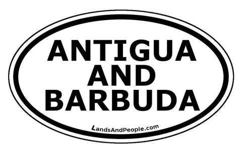 Antigua and Barbuda Car Bumper Sticker Decal