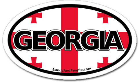 Republic of Georgia Flag Sticker Oval