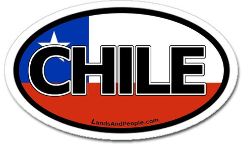 Chile Flag Car Bumper Sticker Decal
