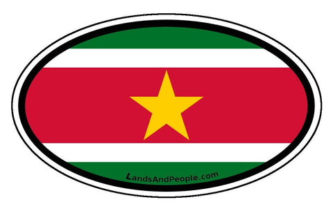 Surinam Flag Car Bumper Sticker Decal