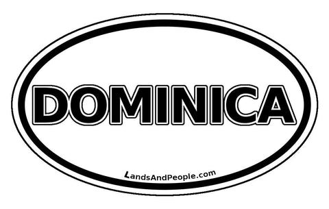 Dominica Car Bumper Sticker Decal