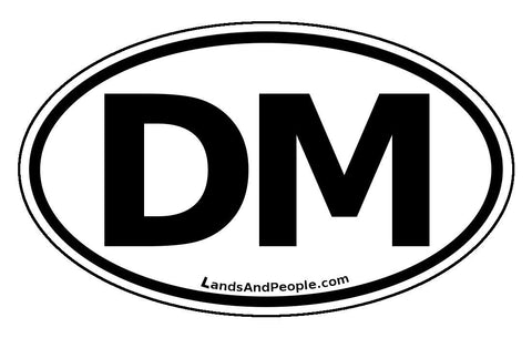 DM Dominica Car Bumper Sticker Decal