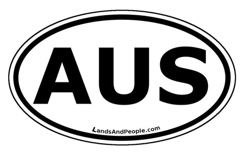 AUS Australia Car Bumper Sticker Decal