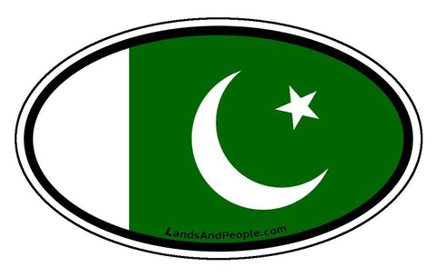 Pakistan Flag Sticker Oval