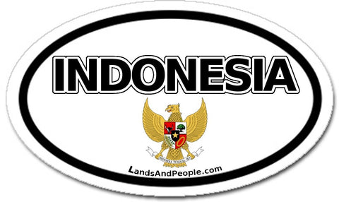Indonesia Garuda National Emblem Sticker Oval