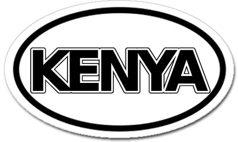 Kenya Car Bumper Sticker Decal Oval
