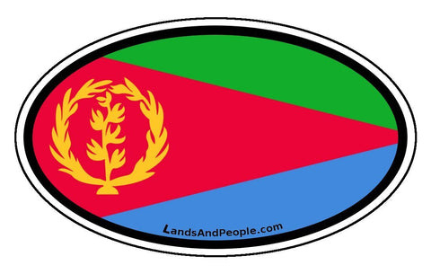 Eritrea flag car bumper sticker oval