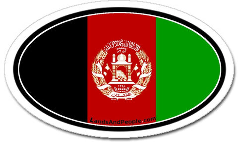 Afghanistan Flag Sticker Oval