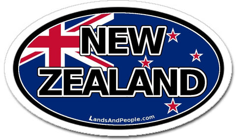 New Zealand Flag Car Bumper Sticker Decal