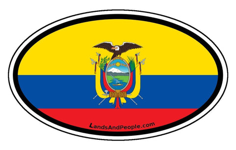 Ecuador Flag Car Bumper Sticker