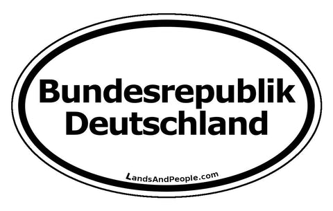 Bundesrepublik Deutschland Black and White Sticker Oval